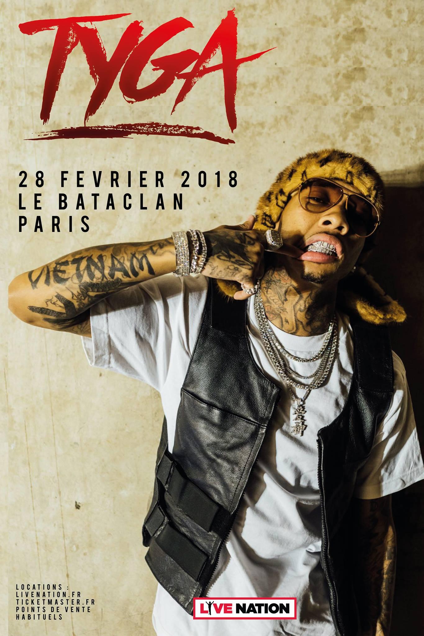 Tyga - Bataclan / Paris (75)