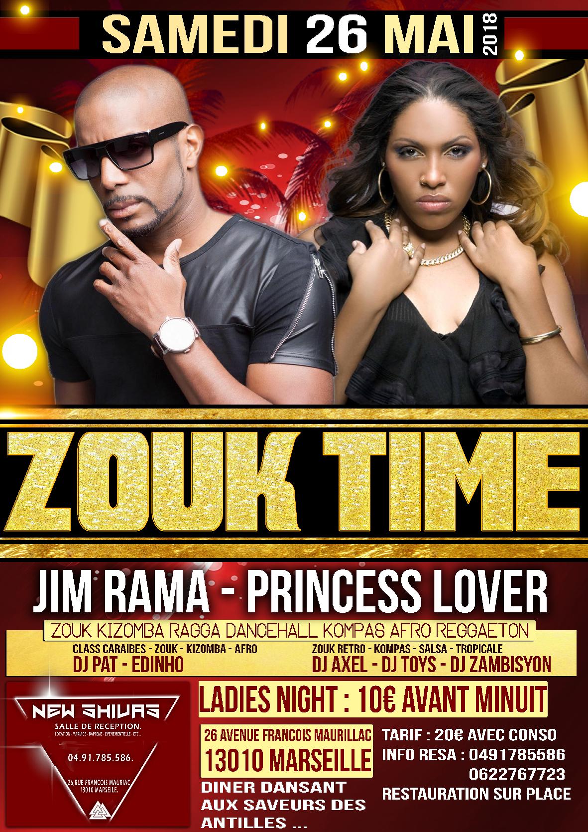Showcase Zouk - PRINCESSE LOVER . JIM RAMA - LE SHIVAS MARSEILLE.