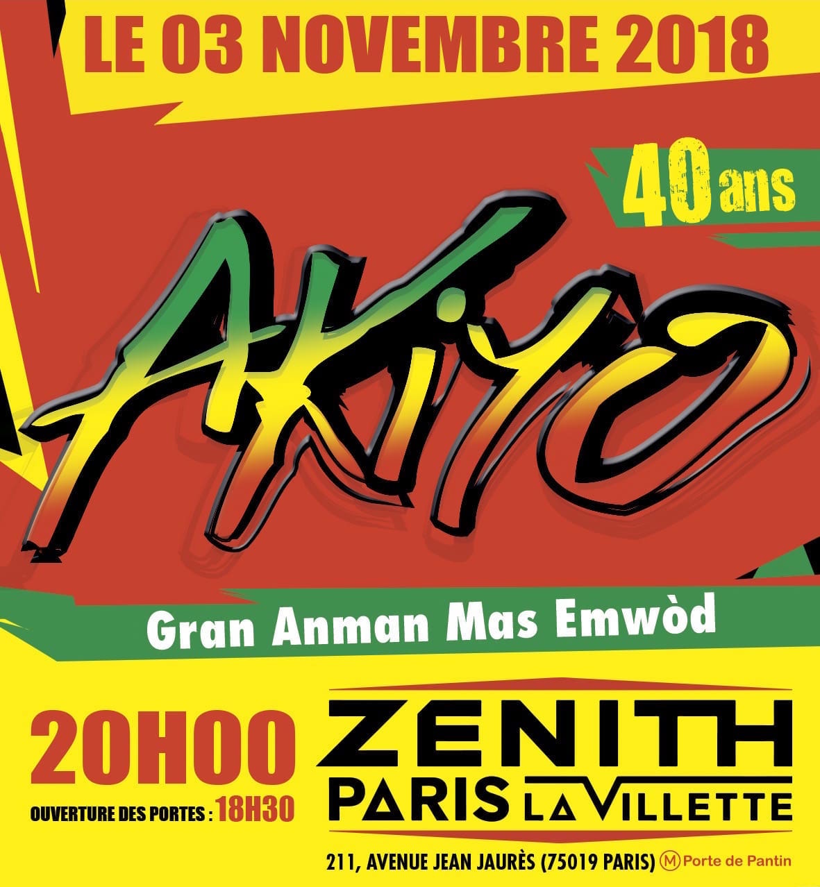 Les 40ans d'Akiyo - Zenith de Paris