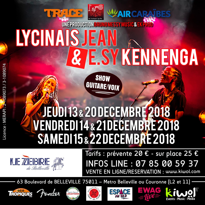 Lycinaïs Jean et E.sy Kennenga - Le Zèbre de Belleville / Paris (75)