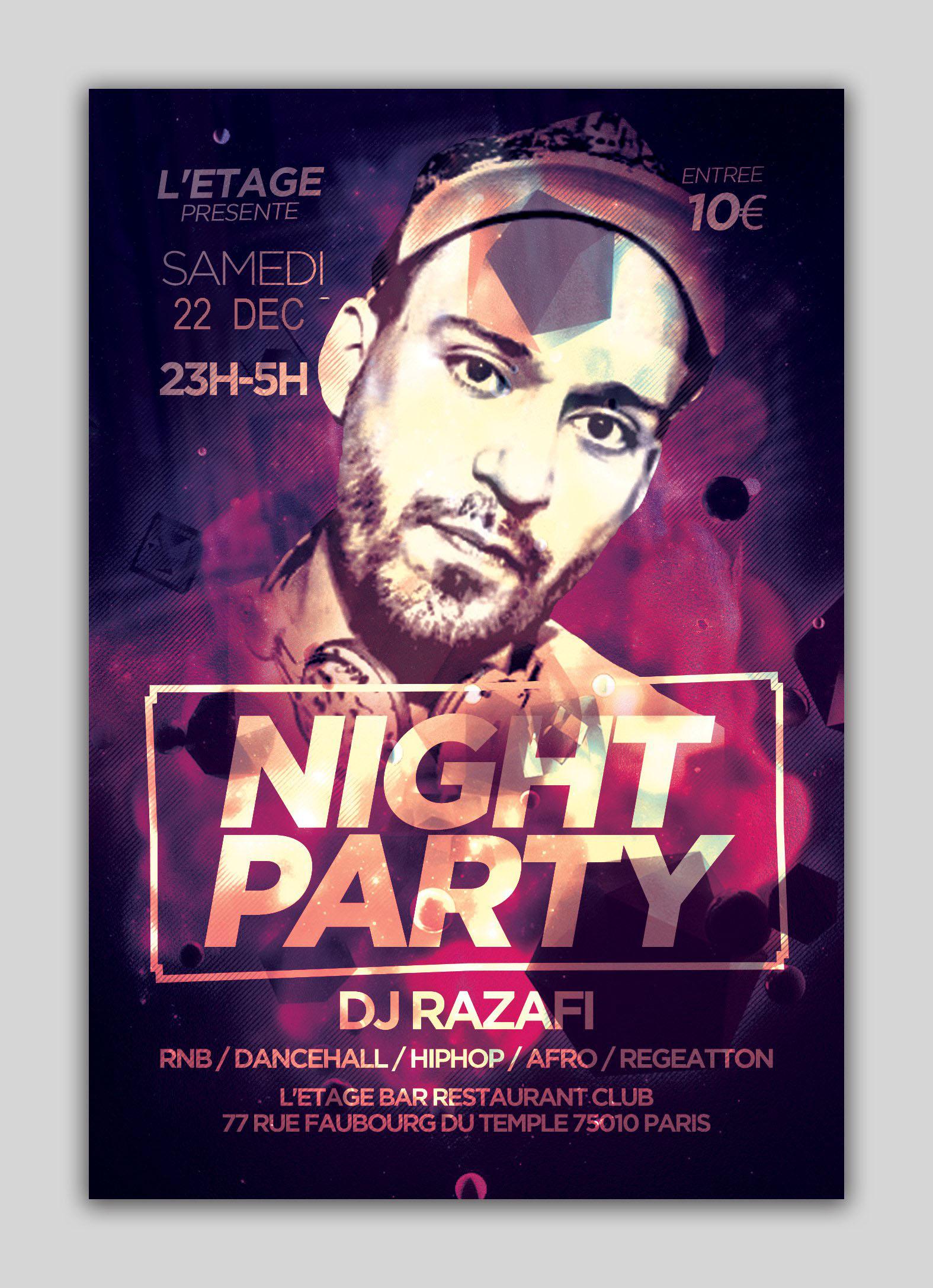 Night Party Dj Razafi Guest Kiwol Com