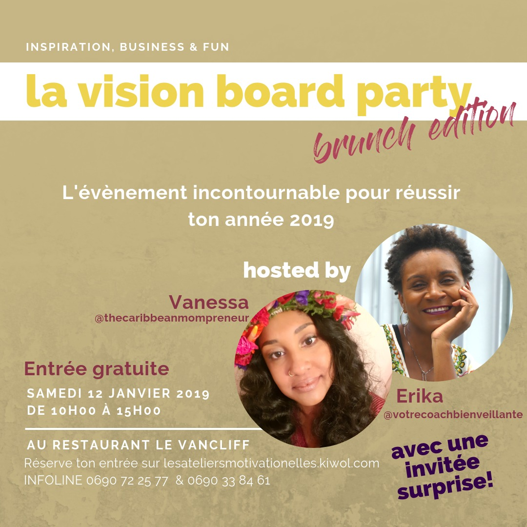 VISION BOARD PARTY - Brunch Edition (Guadeloupe)