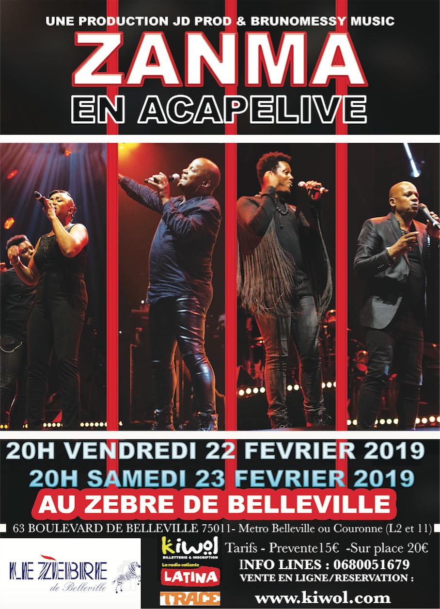 ZANMA en acapelive - Zèbre de Belleville / PARIS