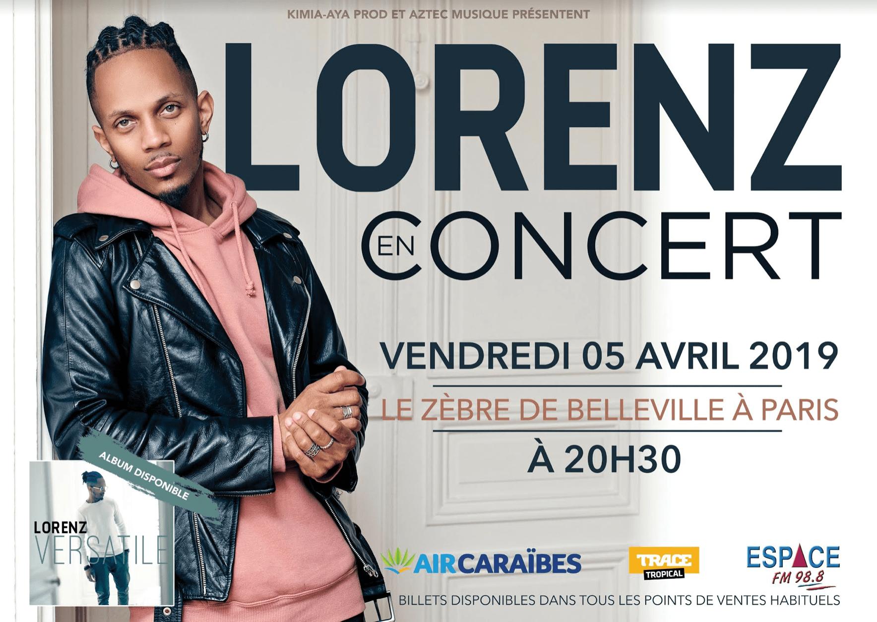 Lorenz en concert - Le Zèbre de Belleville / Paris (75)