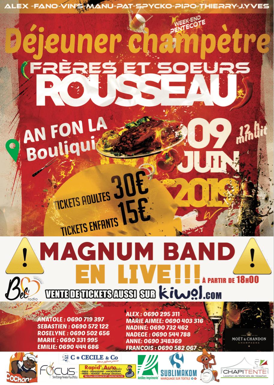 Déjeuner Champètre + Magnum Band en Live - An Fon La (Le Gosier)