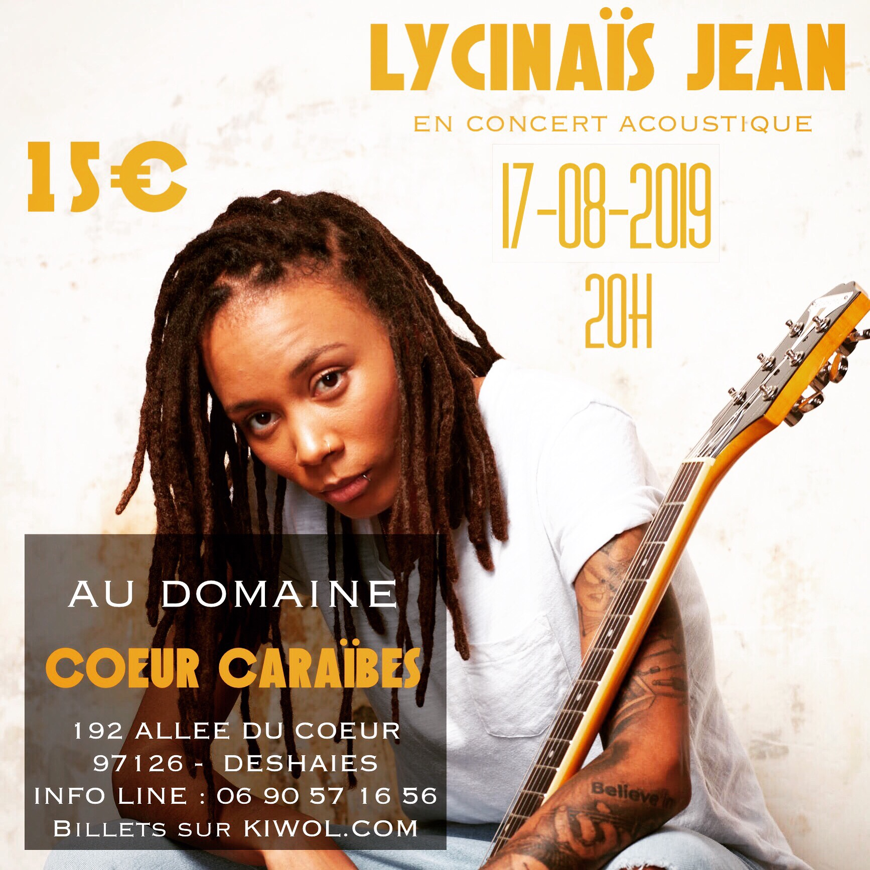 LYCINAÏS JEAN en Concert Live Acoustique - Guadeloupe