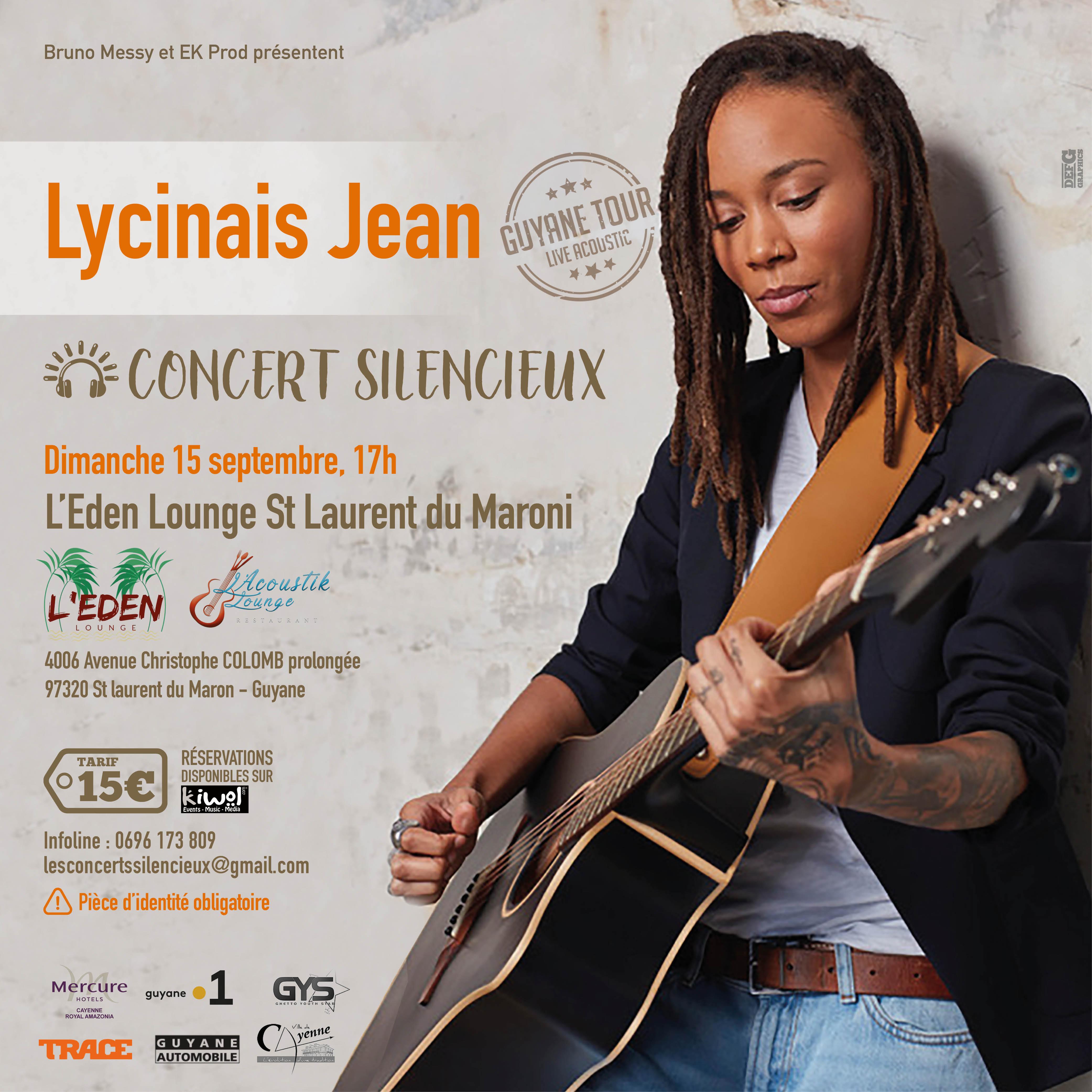 LYCINAÏS JEAN en Concert Live Acoustique à ST LAURENT DU MARONI