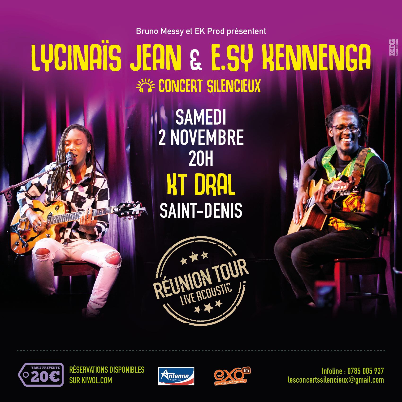 LYCINAÏS JEAN & E.SY KENNENGA -En DUO - Concert Live Acoustique - (Silencieux) – a SAINT DENIS à La REUNION