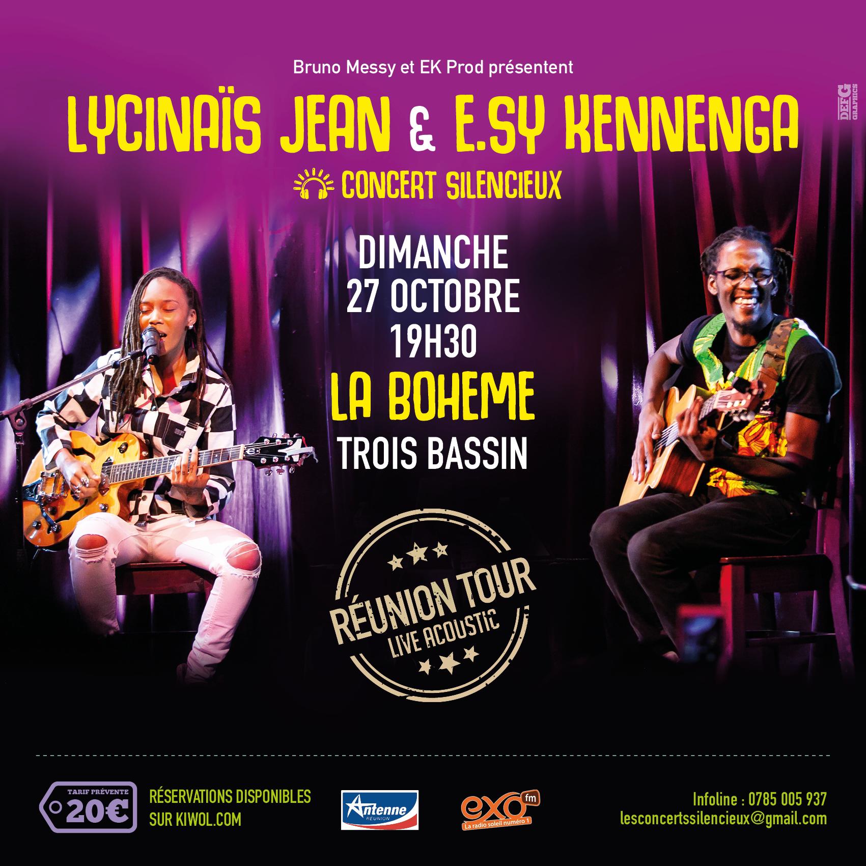 LYCINAÏS JEAN & E.SY KENNENGA -En DUO - Concert Live Acoustique - (Silencieux) – a TROIS BASSINS à La REUNION
