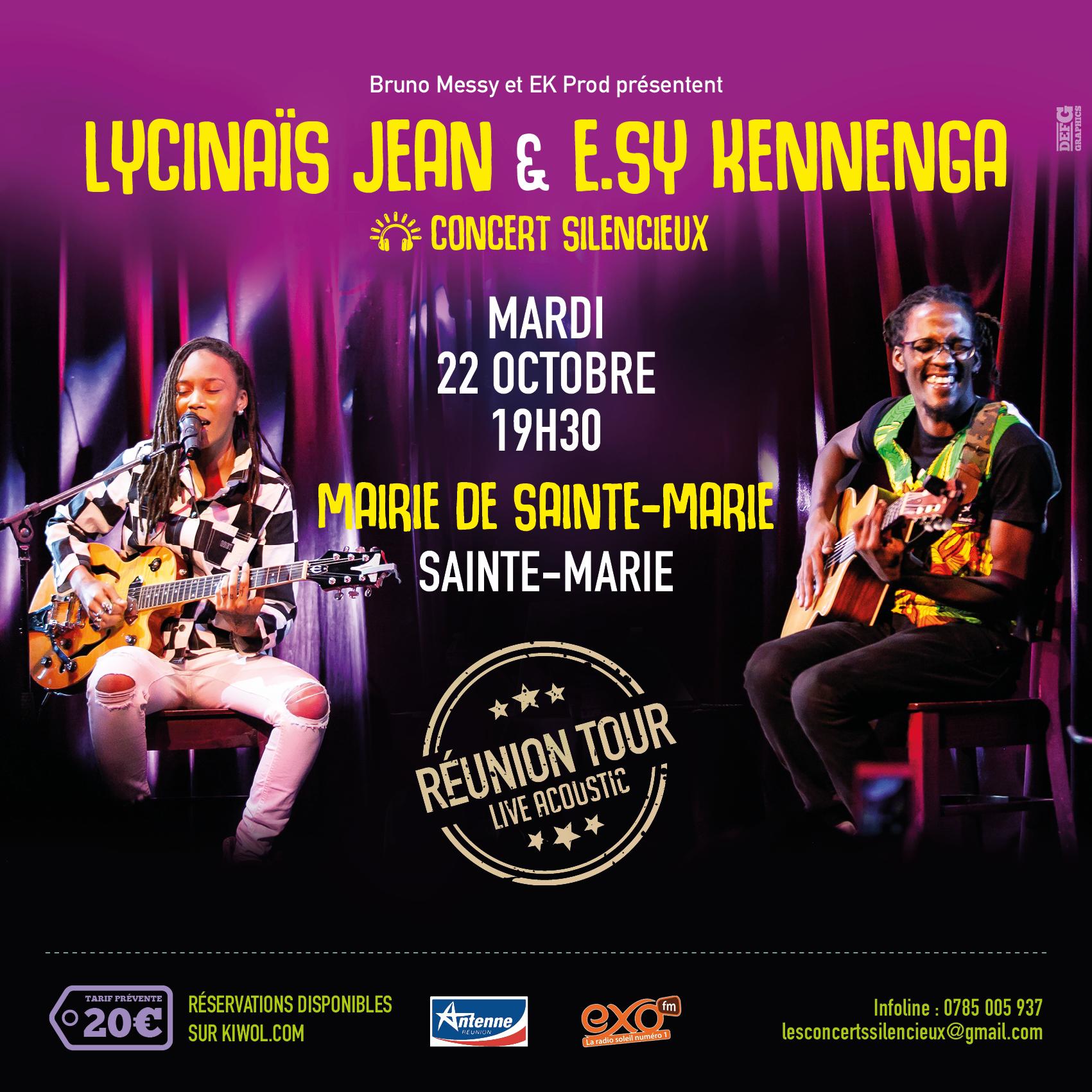 LYCINAÏS JEAN & E.SY KENNENGA -En DUO - Concert Live Acoustique - (Silencieux) – a SAINTE-MARIE  à La REUNION