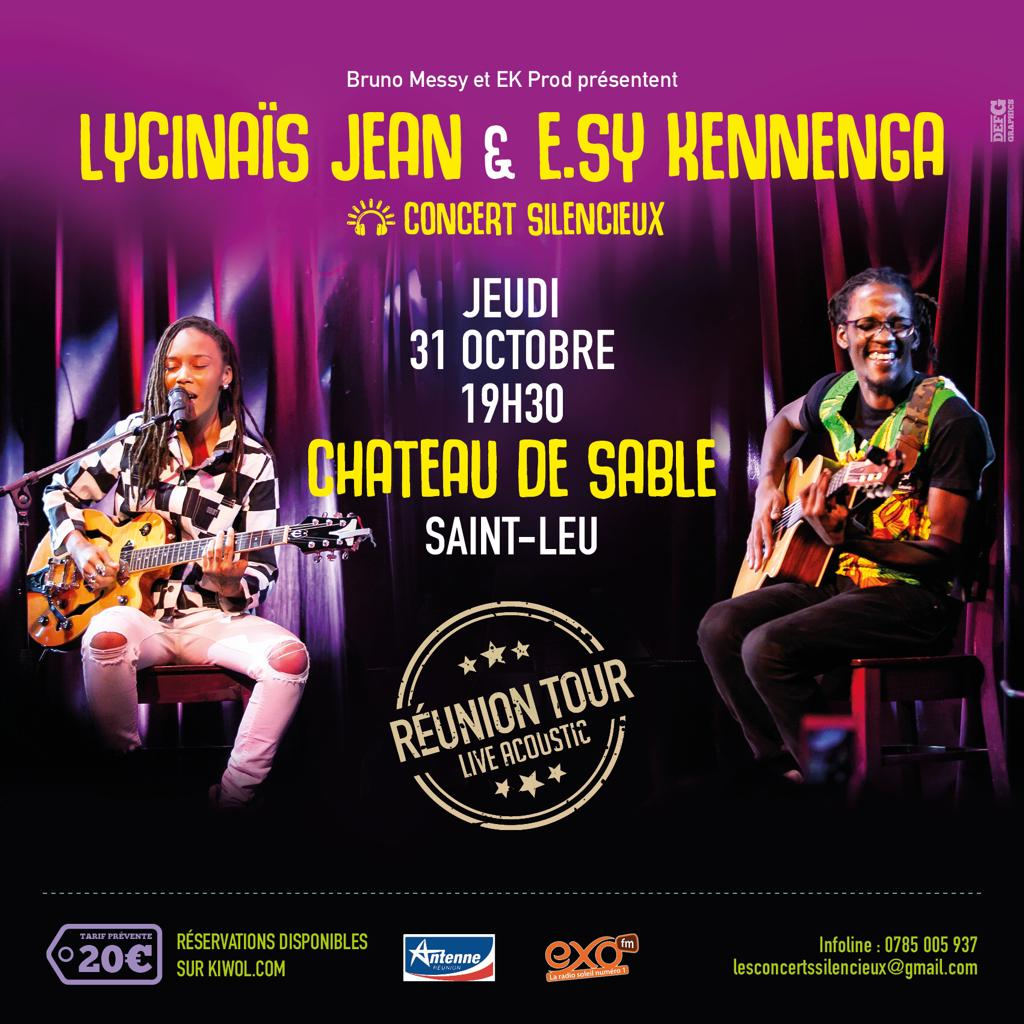 LYCINAÏS JEAN & E.SY KENNENGA -En DUO - Concert Live Acoustique - (Silencieux) – a SAINT-LEU à La REUNION