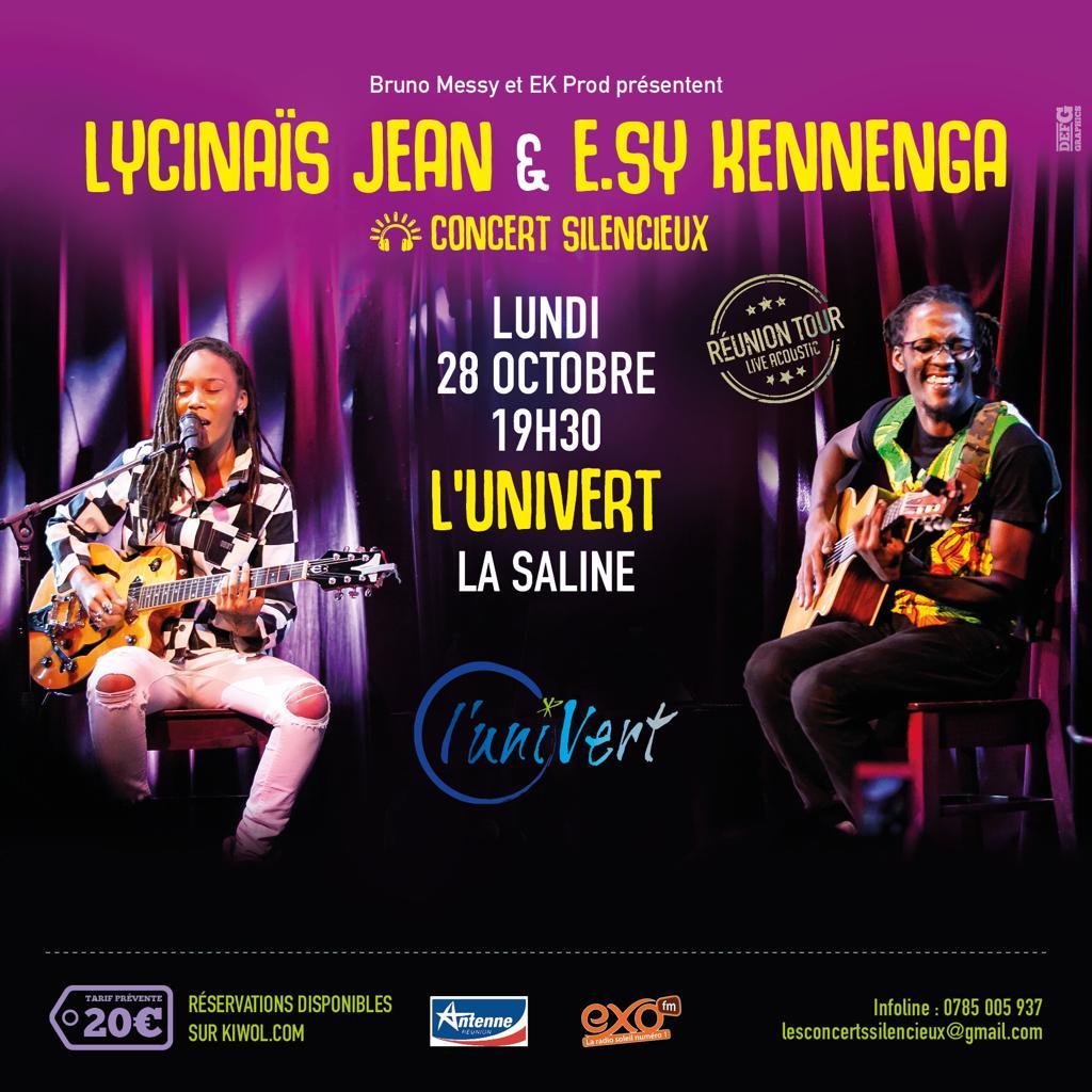 LYCINAÏS JEAN & E.SY KENNENGA -En DUO - Concert Live Acoustique - (Silencieux) – a LA SALINE LES BAINS  à La REUNION