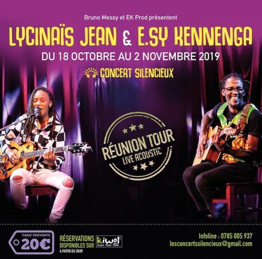 LYCINAÏS JEAN & E.SY KENNENGA -En DUO - Concert Live Acoustique - (Silencieux) / Tournée à la Réunion