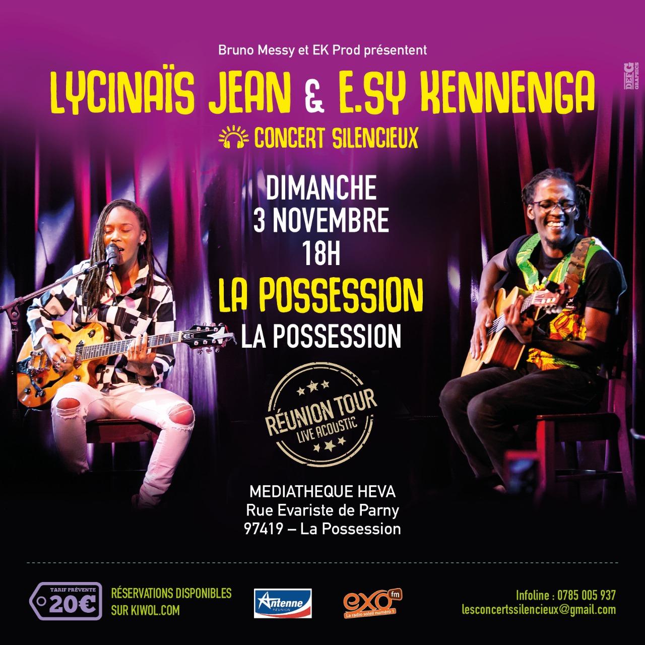 LYCINAÏS JEAN & E.SY KENNENGA -En DUO - Concert Live Acoustique - (Silencieux) – a LA POSSESSION à La REUNION