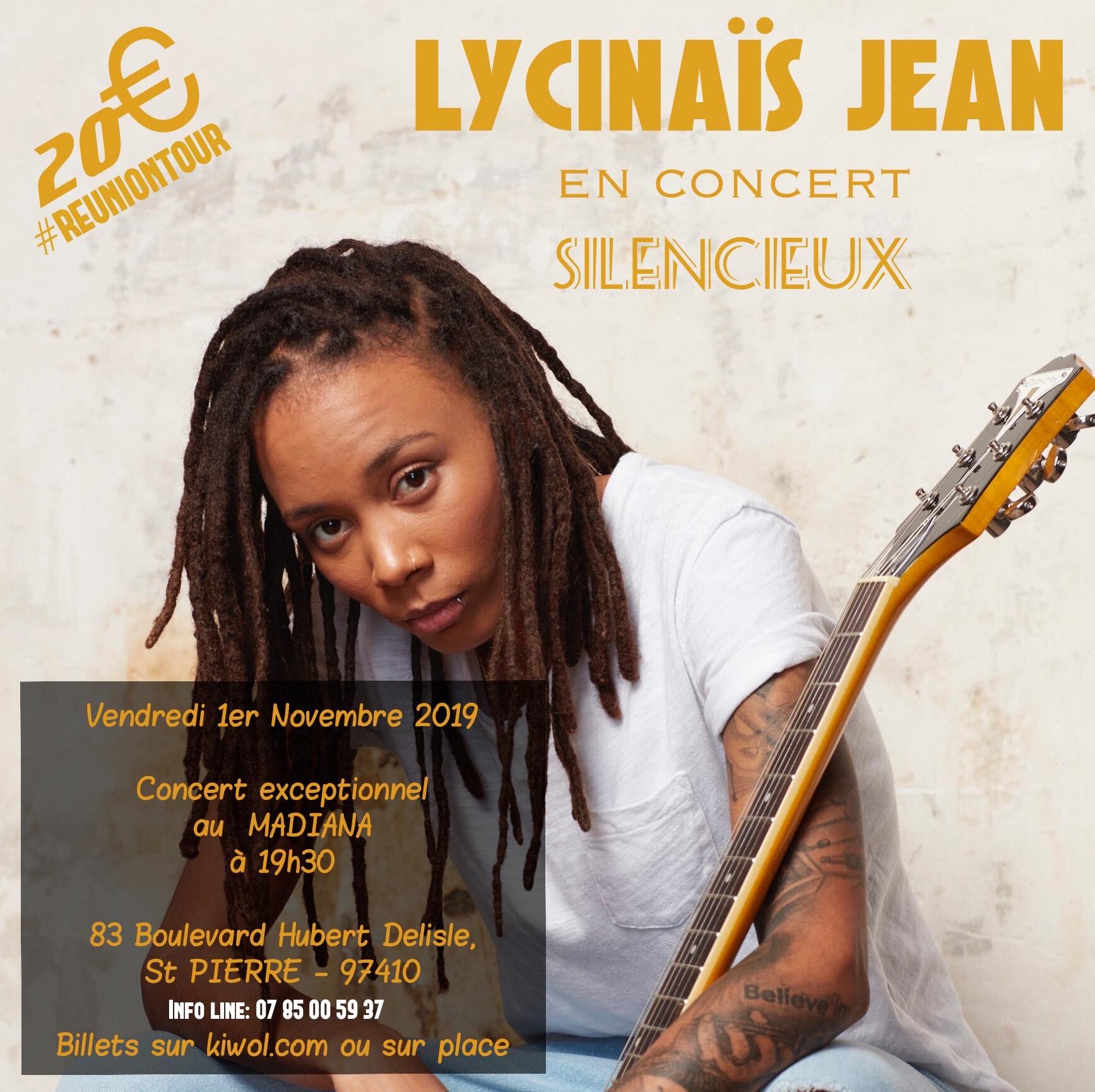 LYCINAÏS JEAN en concert live acoustique a SAINT-PIERRE à La REUNION