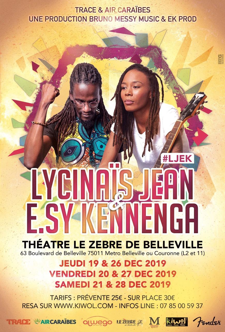 LYCINAÏS JEAN & E.SY KENNENGA - THEATRE DU ZEBRE DE BELLEVILLE - PARIS