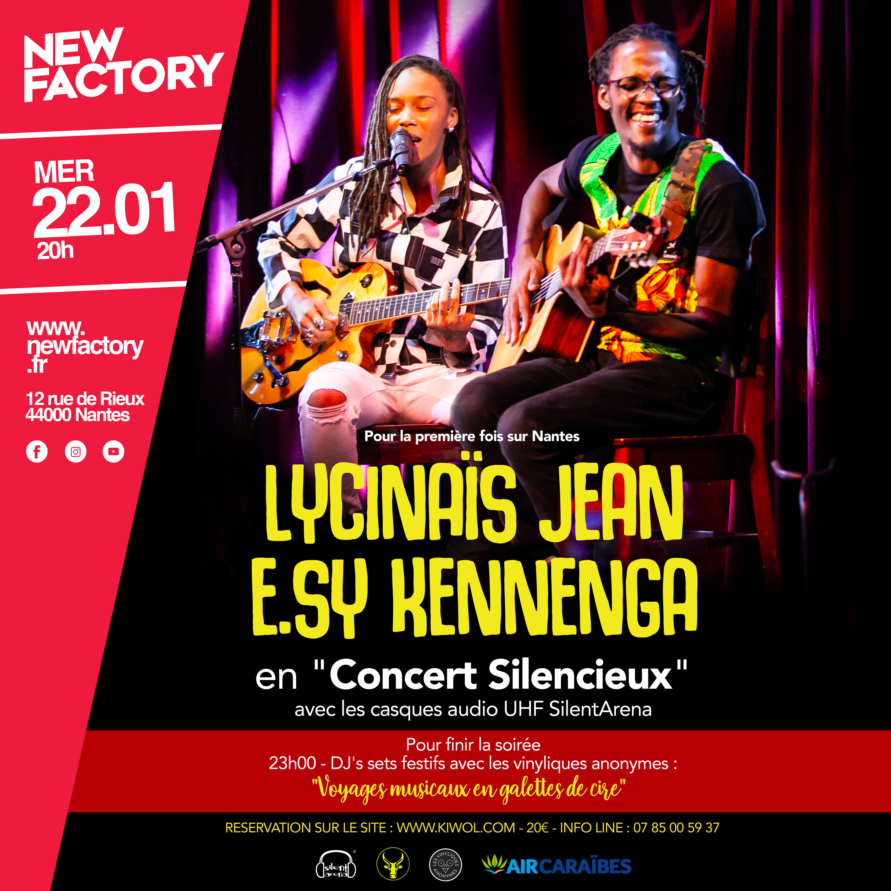 LYCINAÏS JEAN & E.SY KENNENGA au NEW FACTORY à NANTES