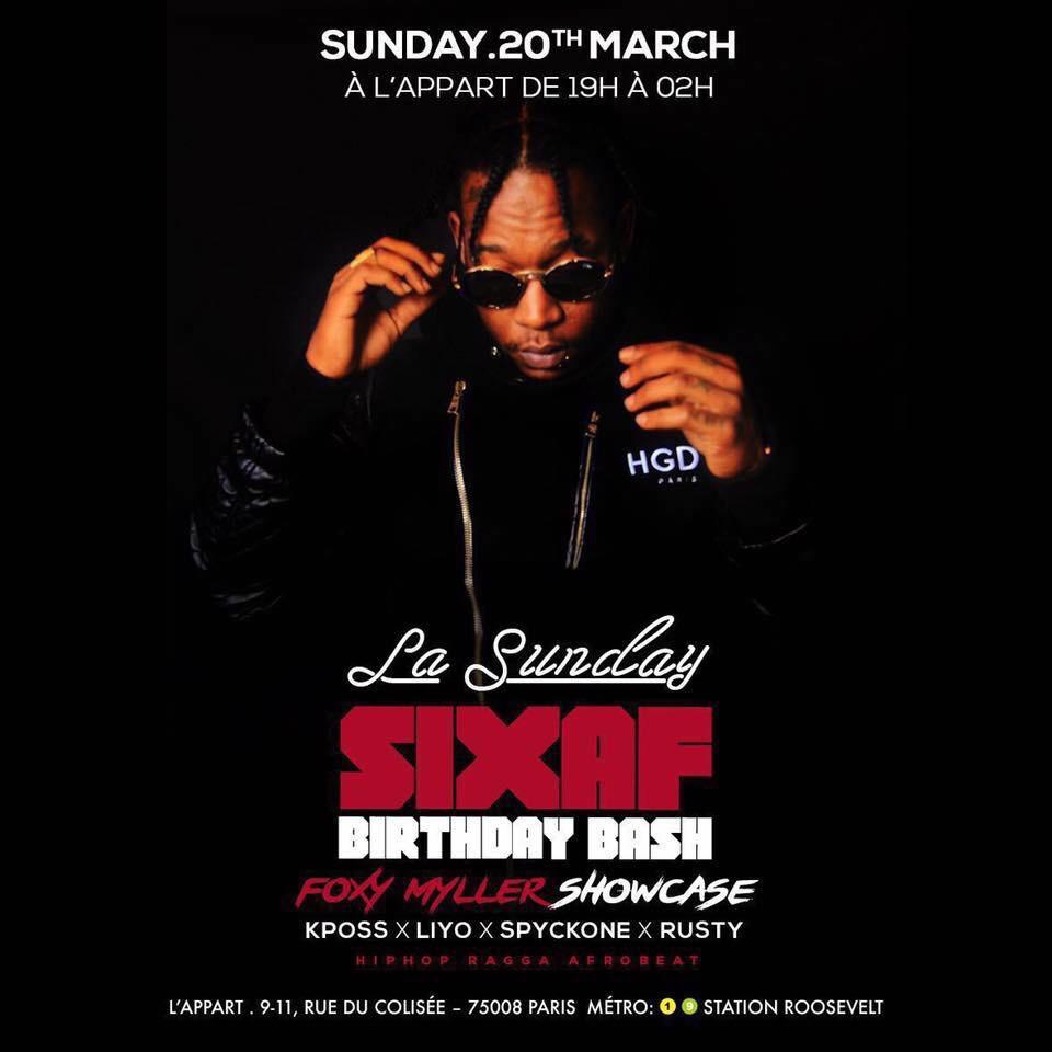 La Sunday DJ Sixaf BirthDay