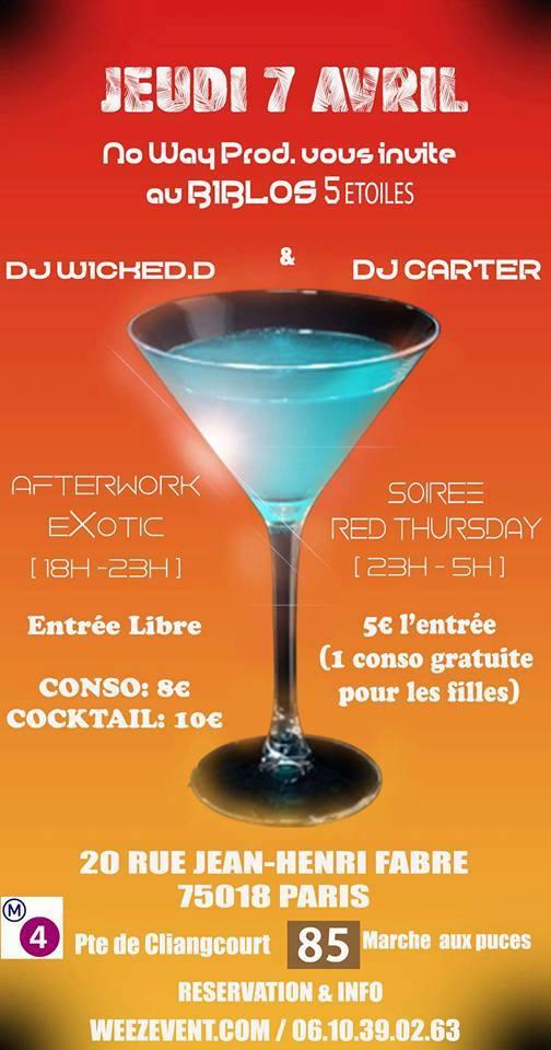 AfterWork Exotique + Soirée Red Thursday