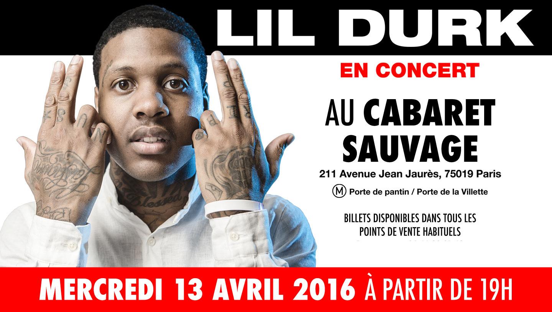 Lil Durk en concert au Cabaret Sauvage