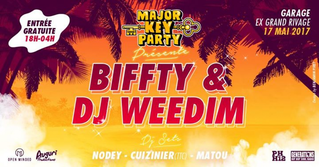 Major key party gratuit biffty dj weedim for Le garage paris austerlitz